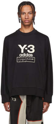 Y-3 Black Stacked Logo Sweatshirt