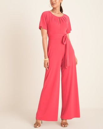 Taylor Jersey Jumpsuit with Keyhole Neckline