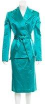 Dolce & Gabbana Two-Piece Silk Skirt Suit