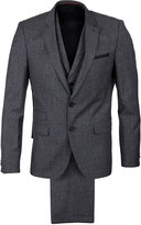 Hugo Alid Wyll Hilor Flecked Grey Three Piece Suit