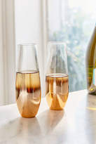 Urban Outfitters Metallic Ombre Stemless Flute Glass - Set Of 2
