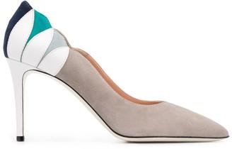 Pollini Colour-Block Heel Pumps