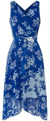 DKNY Occasion Occasion Wrap Hankerchief Dress