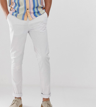 Asos Design DESIGN Tall skinny chinos in white