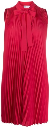 RED Valentino Pleated Pussy Bow Blouse
