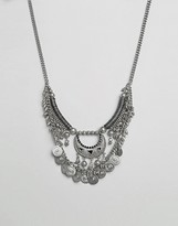 Pieces Mia Multi Row Coin Necklace