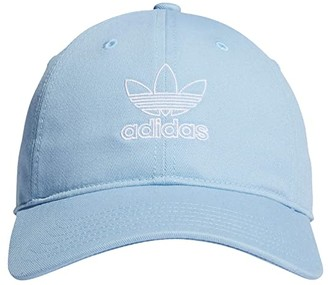 adidas Originals Outline Relaxed Cap (Clear Sky Blue/White) Caps