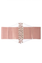 Quiz Pink And Clear Corset Belt