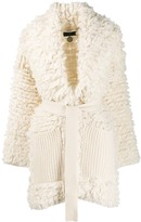 Alanui belted wrap-style coat