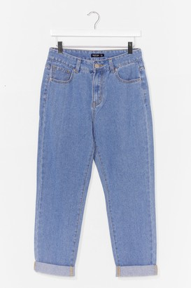 Nasty Gal Womens Wash You Doing Straight Leg Jeans - Blue - 6