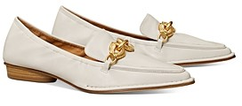 Tory Burch Women's Jessa Pointed Toe Horse Head Buckle Leather Loafers