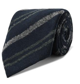Boglioli 7.5cm Striped Virgin Wool Tie