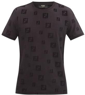 Fendi Ff-logo Cotton-jersey T-shirt - Black