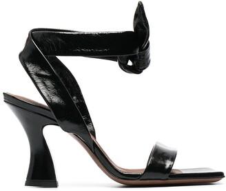 L'Autre Chose Ankle-Bow Leather Sandals