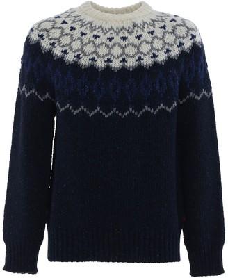 Woolrich Jacquard Crewneck Knit Jumper