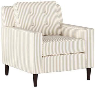 One Kings Lane Winston Club Chair - Natural Stripe Linen