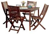 Oxford Garden Capri Dining Set of 5 - Brown Umber Acacia