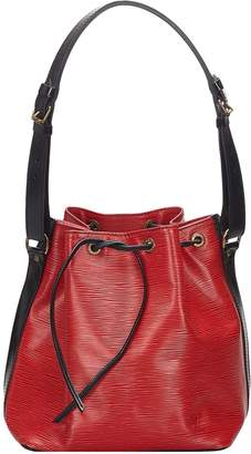 Louis Vuitton Noe Red Leather Bags