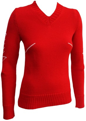 Bernhard Willhelm Red Wool Knitwear for Women Vintage