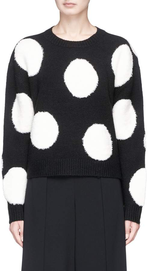 Alice + Olivia 'Gleeson' polka dot cropped sweater