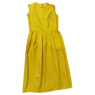Saint Laurent Yellow Wool Dresses