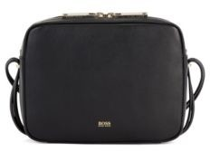 HUGO BOSS Nappa-leather crossbody bag with hardware-tipped straps