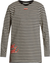 Off-White Mirror striped long sleeved cotton-jersey T-shirt