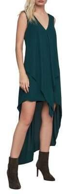 BCBGMAXAZRIA Tara Cascade Ruffle Dress