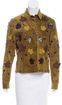 Prada Embellished Suede Jacket