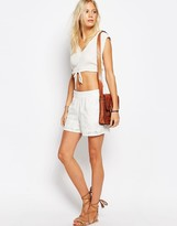 Vila Embroidered Shorts