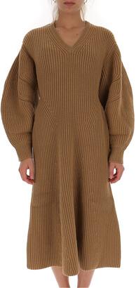 Givenchy V-Neck Knitted Midi Dress