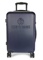 Roberto Cavalli Logo 19-Inch Carry-On Spinner Suitcase