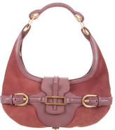 Jimmy Choo Leather-Trimmed Tulita Hobo