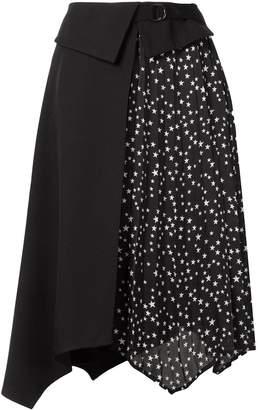 GUILD PRIME star-print panelled skirt