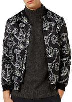 Topman Poppy Floral Print Bomber Jacket