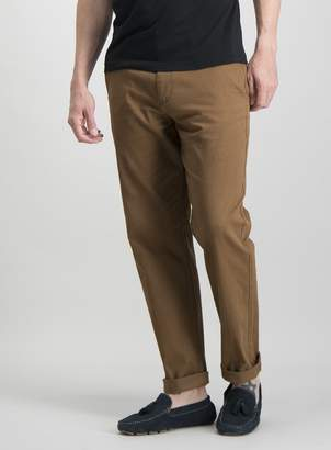 Tu Online Exclusive Toffee Brown Straight Leg Chinos With Stret