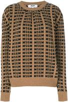 MSGM logo intarsia jumper - women - Polyamide/Wool - S