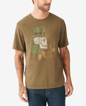 Lucky Brand Men's Leprechaun Skull Tee