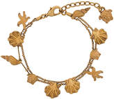 Versace seashell Medusa head charm bracelet