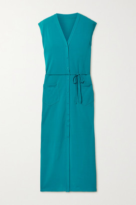 Eres Sabrina Belted Stretch-jersey Midi Dress - Teal