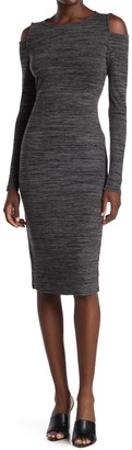 Philosophy di Lorenzo Serafini Cold Shoulder Space Dyed Knit Dress