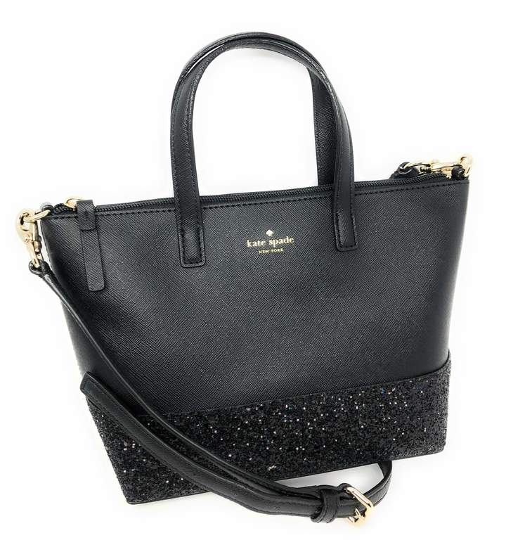 Kate Spade Ina Greta Court Glitter Crossbody Bag Top Handle Handbag