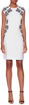 Laundry by Shelli Segal Embroidered Cap Sleeve Sheath Dress
