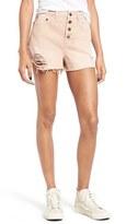 Sun & Shadow Women's Destroyed High Rise Denim Shorts