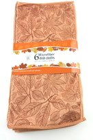 Sultan's Linens 6 Pack Polyester Leaves Dish Cloths