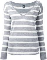 Eleventy striped knit top - women - Merino/Silk - M