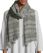 Eileen Fisher Basket Striped Wool Scarf