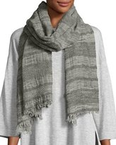 Eileen Fisher WOOL BASKET STRIPE SCARF
