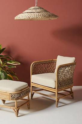 Anthropologie Marigny Rattan Chair By in Beige Size ALL