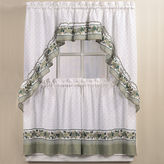 CHF Cottage Ivy 3-pc. Rod-Pocket Kitchen Curtain Set
